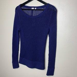 Gap Mesh Long Sleeve Sweater